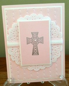 SUO Katelyn's Baptism Card, Girl by In the Pines - Cards and Paper Crafts at Splitcoaststampers