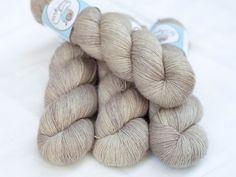 Hand Dyed 100% Merino SW Fingering Weight Yarn - Single ply - 100 grams - 366m/400yards - Sand