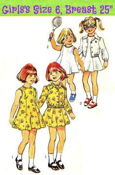 70s GIRLS SEWING PATTERN Dress and Unlined by KeepsakesStudio