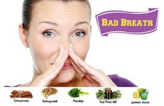 How to Get Rid of Bad Breath CAUSES: -Bacterial Infection -Improper diet -Stress -Constipation, diabetes, indigestion. Medical Information, Bad Breath, Oral Hygiene, Health And Beauty Tips, Natural Home Remedies, Naturally Beautiful, How To Get Rid, How To Stay Healthy, Breathe