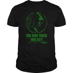 # You have failed this city The green arrow fan. You have failed this city. Arrow T Shirt, Online Tshirt Design, Zombie T Shirt, Cartoon T Shirts, Sport T Shirt, Cool Tees, Shirt Style, Green Arrow, Long Sleeve Shirts