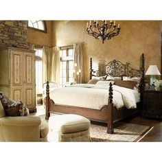 Florentine Tuscany bed- Frances Mayes At Home in Tuscany furniture range by Drexel Heritage
