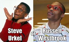 Urkel or Westbrook?    http://thesportstoilet.com
