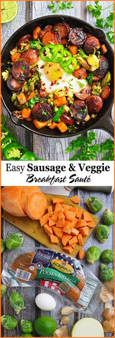 Easy Sausage Veggie Breakfast Saute   #GiveLifeMoreFlavor #ad