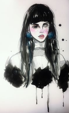 Fashion illustration by Crystal Yuqing Li.