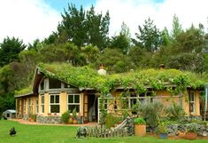 Permaculture home at Rainbow Valley Farm in Matakana, New Zealand