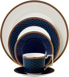 Byzance Place Setting Dinnerware Set PC) by Wedgwood at Gilt Fine China Dinnerware, Dinnerware Sets, Yellow Dinnerware, Terracotta, Elegant Table Settings, China Sets, Dinner Sets, Dinner Ware, China Patterns