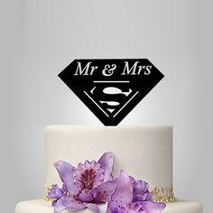 mr and mrs superman wedding Cake Topper, cake decoration Cat Cake Topper, Funny Cake Toppers, Acrylic Cake Topper, Personalized Cake Toppers, Custom Cake Toppers, Wedding Cake Toppers, Wedding Cake Prices, Wedding Cakes, Superman Wedding Cake