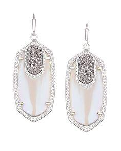 Emmy Drop Earrings in Platinum Orbit - Kendra Scott Jewelry