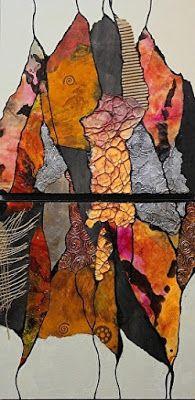 """CAROL NELSON FINE ART BLOG: Mixed Media Abstract Painting """"GYPSY KAFTAN """" by Colorado Mixed Media Artist Carol Nelson"""