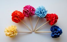 fabric cupcake toppers