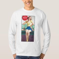 Vintage Coca-Cola | Ping Pong Girl T-Shirt - tap, personalize, buy right now!