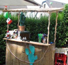 Beispiel für eine selbstgebastelte Bar für eine Mexico-Party