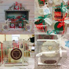 Mini Christmas fruitcakes by Diamond Tiers