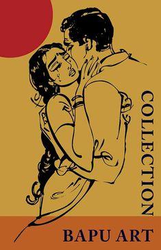 Bapu Bomma Indian Women Painting, Indian Art Paintings, Indian Folk Art, Indian Artist, Art Sketches, Art Drawings, Indian Illustration, Newspaper Art, Social Art