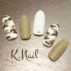 In search for some nail designs and ideas for your nails? Listed here is our set of must-try coffin acrylic nails for cool women. Camo Nail Art, Camouflage Nails, Camo Nail Designs, Nail Art Designs, Green Nail Designs, Perfect Nails, Gorgeous Nails, Trendy Nails, Cute Nails