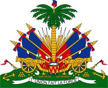 The Coat of arms of Haiti includes a Phrygian cap on top of a palm tree, signifying the country's foundation by rebellious slaves