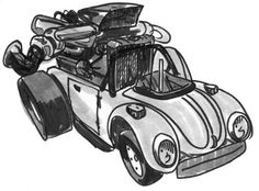 Cartoon car illustration from long ago Car Illustration, David, Cartoon, Engineer Cartoon, Cartoons, Comic