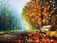 LONELY BENCH by Leonid Afremov