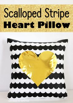 Scalloped Stripe Heart Pillow with FrogTape Shape Tape