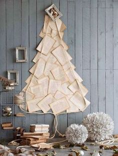 Even if you do not celebrate Christmas, it's still fun to see how creative bookish people can be with ideas for Christmas trees.                   Source: design-dautore                   Source:...