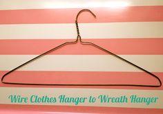 Refashion: Wire Clothes Hanger to Wreath Hanger