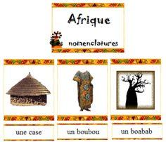 vocabulaire - Afrique - Nurvero Montessori, Afrique Francophone, Activity Games, Activities, Afrique Art, Petite Section, Art Africain, Cycle 3, Kenya