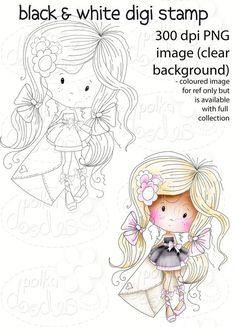 Wishes - Winnie Fruit Punch Printable Digital Craft Stamp Download, digiscrap - Polkadoodles Ltd