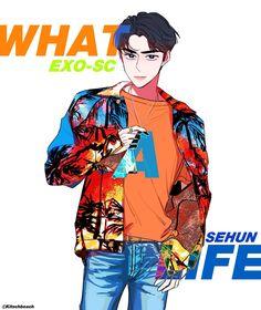 Chanbaek Fanart, Exo Chanbaek, Kpop Fanart, Sehun, Exo Album, Exo Fan Art, Kpop Posters, Kpop Drawings, Short Comics