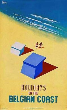 Vakantie aan de Belgische kust poster