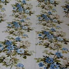 This fabric from Sundour Walton is a genuine vintage fabric from the late 70's and is available at www.discountfabricslincs.co.uk. Florals mixed with plains and pastels create a cozy, comfortable feel to a shabby chic bedroom