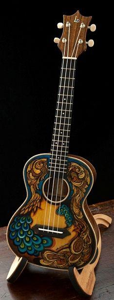 lardyfatboy: =Lardys Ukulele of the day - a year ago Luthier Jay Lichty built a beauty of a koa handcrafted tenor ukulele then artist Clark Hipolito then applied custom artwork. ==Lardys Ukulele of the day - 2 years ago --- https://www.pinterest.com/lardyfatboy/