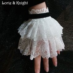 Vintage Gothic Lace Victorian Wrist Cuff Bracelet WHITE Find More Charm…