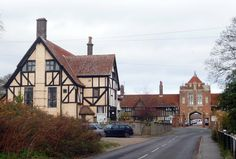 Thorpeness, Suffolk. Looking towards the Almshouses.
