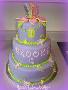 Tinkerbell Birthday Cake-would so love to do this for Kenzie's Tinkerbell birthday party this year