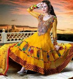 New and Latest Bridal Mahndi dresses 2014-15 for girls