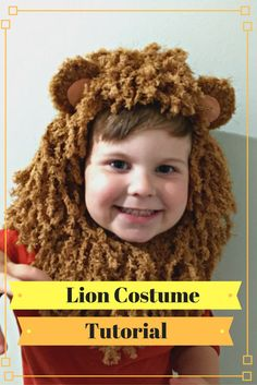A super easy tutorial to make a DIY Lion costume. This step by step tutorial would be great for a Halloween costume or a fancy dress party! Crochet Lion, Crochet Toddler, Halloween Costumes Kids Homemade, Diy Halloween, Halloween 2017, Diy Craft Projects, Craft Tutorials, Diy Crafts, Fabric Crafts