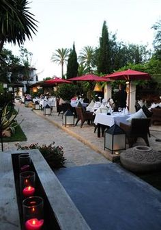 A grand, sprawling estate with multiple wining and dining spaces - love! Atzaró Restaurant, San Lorenzo, Ibiza, Spain
