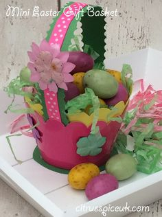 Citrus Spice and all things nice...: Mini Easter Gift baskets #BostickCrafters