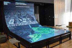 Future City Lab: Mapping the Past, Present, and Future - Prentice McCurdy Interactive Table, Interactive Museum, Exhibition Booth Design, Exhibition Display, Environmental Graphic Design, Environmental Graphics, Science Gallery, City Museum, Futuristic Technology