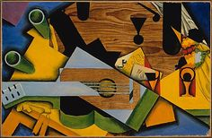 Juan Gris (1887–1927)   Still Life with a Guitar, 1913, oil on canvas. The Metropolitan Museum of Art, NY.