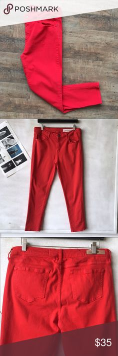 TREASURE BOND Skinny Jeans Belt loops  Zipper and button closure  5 pocket design  Red  65% Cotton 33% Viscose 2% Spandex  Size: 31 Inseam: 26in  Rise: 10in    ☑️No Pets  ☑️Non-Smoking home  ☑️Every item steamed throughly before shipped!  💌 Ships from Santa Monica, CA   🗝Follow me on Instagram! @koukil1908 ask to have a video of the item ✌️ Teasure & Bond Pants Ankle & Cropped
