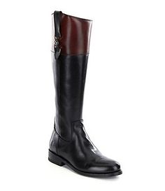 Frye Jayden Button Tall Leather Full Zip Wide Calf Riding Boots at Dillard's Gorgeous #fall boots #fashion #fallfashion 2017 Women's boots