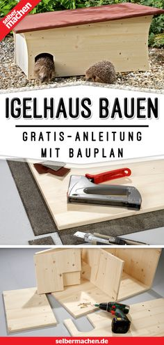 Igelhaus bauen: So geht's richtig Here's a step-by-step guide on how to build a pretty Hedgehog house. Very fast and super easy! Grand Wood Working RoBuild Hedgehog house yourselfA hedgehog house made of stones Herb Garden Design, Garden Pots, Hedgehog House, Pallet Creations, Diy Outdoor Furniture, Pallets Garden, Diy Garden Projects, Garden Ideas, Animal Decor