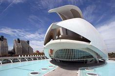 City of Arts and Sciences by Santiago Calatrava in Valencia, Spain