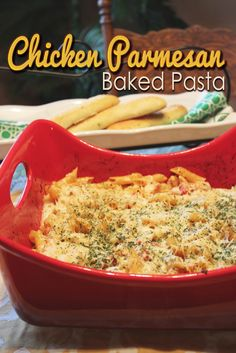 Chicken Parmesan Baked Pasta    It didn't disappoint!  It wasn't too heavy, like most pasta dishes feel.  I didn't feel like I'd just eaten for two, it was both delicious and fulfilling and there was even room for dessert.
