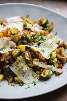 Spanish Ratatouille Pisto Manchego from Christopher Kimball s Milk Street Vegetable Sides, Vegetable Recipes, Vegetarian Recipes, Cooking Recipes, Healthy Recipes, Vegetarian Dish, Milk Recipes, Healthy Foods, Healthy Eating