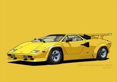 Lamborghini Countach Oro Sahara (US spec) Lamborghini Cars, Vehicles, Car, Vehicle, Tools