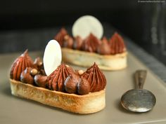 Chocolate & Nougatine Tartlets - Recipe with images - Meilleur du Chef French Patisserie, Logo Patisserie, Shortcrust Pastry, Pastry And Bakery, Breakfast Dessert, French Pastries, Foods With Gluten, Chocolate Hazelnut, Special Recipes