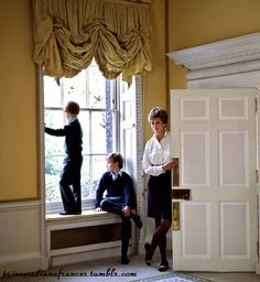 Princess Diana portraits with her two sons, and heir to the British throne, Prince William and Prince Harry. Taken by Derry Moore, 12th Earl of Drogheda